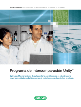 Programa de Intercomparación Unity™