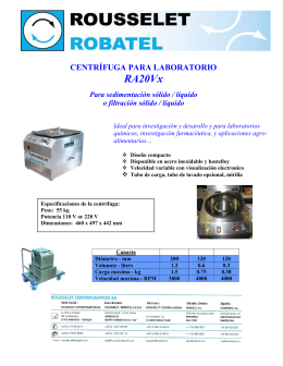 Folleto RA 12/20 - Rousselet Robatel