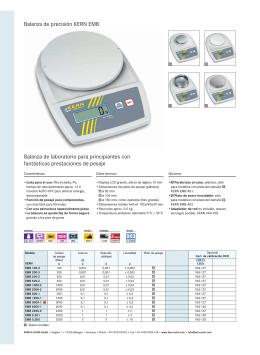 Balanza de precisión KERN EMB Balanza de laboratorio