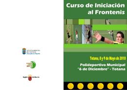 FOLLETO CURSO INICIACIÓN AL FRONTENIS