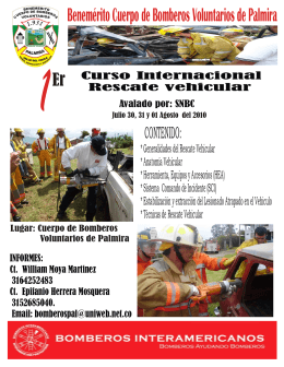 Folleto Curso Internacional rescate Vehicular[1]