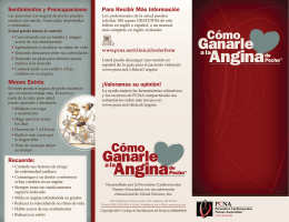 Angina Angina - Preventive Cardiovascular Nurses Association