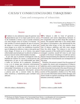 CAUSAS Y CONSECUENCIAS DEL TABAQUISMO