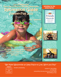 Recreation Guide Recreation Guide