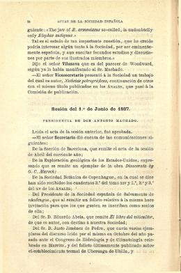 Sesión del i.° de Junio de 1887.