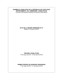 ASAMBLEA LEGISLATIVA DE LA REPÚBLICA DE COSTA