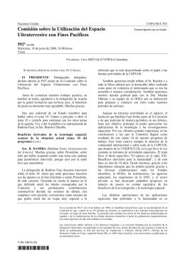 Comisión sobre la Utilización del Espacio Ultraterrestre