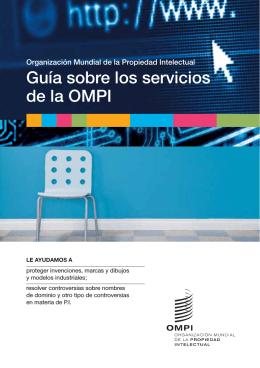 Guía sobre los servicios de la OMPI