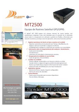 Folleto MT2500 2013.