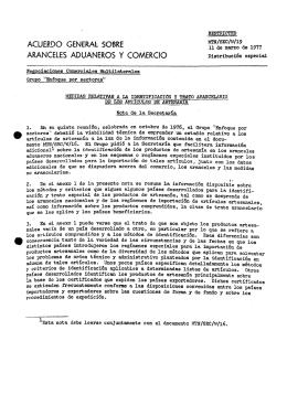 ACUERDO GENERAL SOBRE T f f Ü S 9 * 1977 ARANCELES