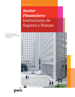 Sector Financiero Instituciones de Seguros y Fianzas