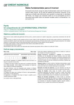 Datos fundamentales para el inversor - E