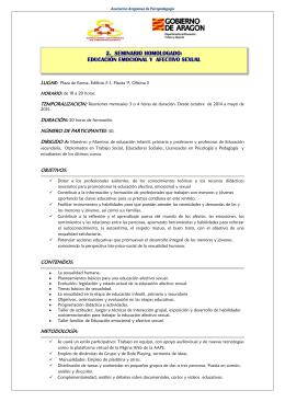 Más información - Asociación Aragonesa de Psicopedagogía