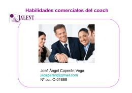 Habilidades comerciales del coach
