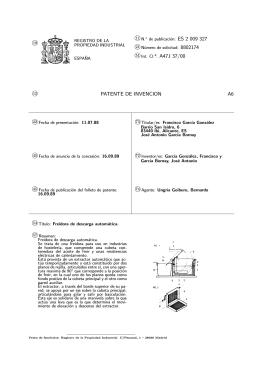 FREIDORA DE DESCARGA AUTOMATICA.(ES2009327)