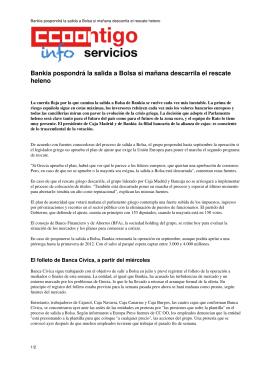 Bankia pospondrá la salida a Bolsa si mañana descarrila el rescate