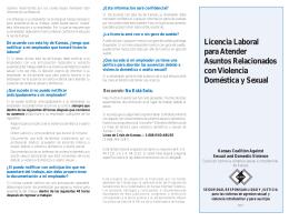 Licencia Laboral para Atender Asuntos Relacionados con Violencia