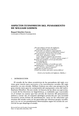 Aspectos económicos del pensamiento de William Godwin