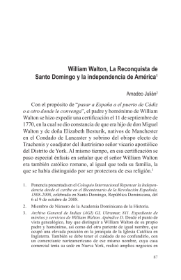William Walton, La Reconquista de Santo Domingo y la