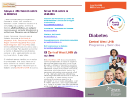 Diabetes - Central West LHIN