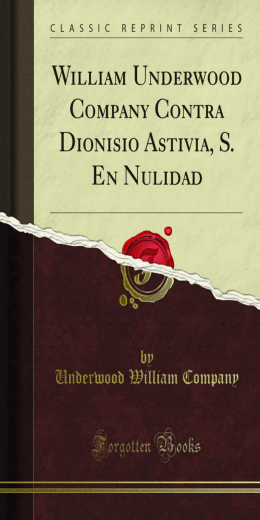 William Underwood Company Contra Dionisio