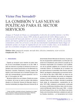 la comisión y las nuevas políticas para el sector