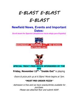 e-blast e-blast e-blast - Newfield Elementary School!