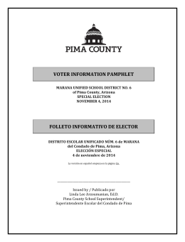 voter information pamphlet folleto informativo de elector