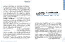Sistema de información geográfica, aplicaciones en la