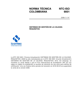 NTC-ISO 9001:2008 - ICONTEC Internacional