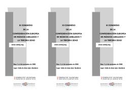 III CONGRESO DE LA CONFEDERACIÓN EUROPEA DE MÚSICOS