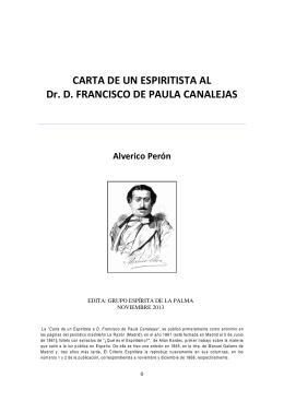 CARTA DE UN ESPIRITISTA - Grupo Espírita de La Palma