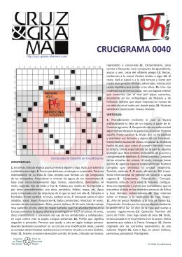 CRUCIGRAMA 0040