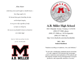 A.B. Miller High School - Fontana Unified School District