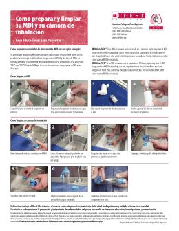 Como preparar y limpiar su MDI y su cámara de inhalación