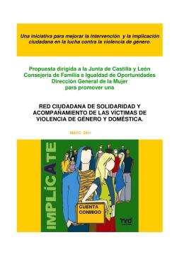 Propuesta dirigida a la Junta de Castilla y León Consejería de