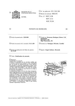 CLASIFICADORA DE PESCADO.(ES2010264)