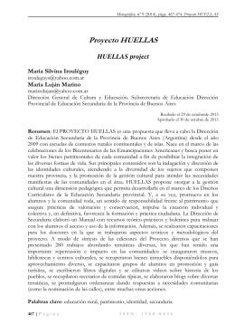 Proyecto HUELLAS