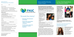 """Actuando Para Justicia"" - Fair Housing Justice Center"