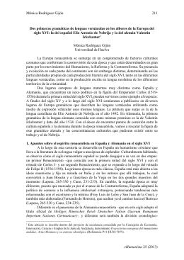 Mónica Rodríguez Gijón 211 eHumanista 25 (2013) Dos primeras