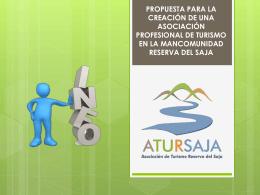 Presentación de ATURSAJ.. - Mancomunidad Reserva del Saja
