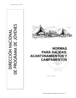 normas para salidas, acantonamientos y campamentos