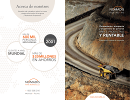 NOMADIS – Folleto – Minería