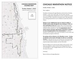 CHICAGO MARATHON NOTICE