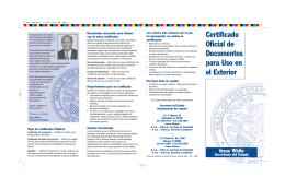 Certificado Oficial de Documentos para Uso en el Exterior