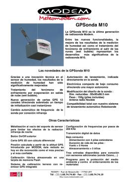 GPSonda M10 - MeteoModem.com