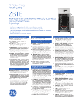 Zenith ZBTE Bypass-Isolation Open Transition (Spanish).