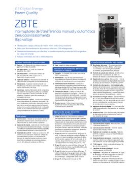 Zenith ZBTE Bypass-Isolation Open Transition (Spanish).