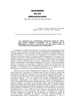 recuerdos de un bibliotecario - Universidad Nacional Jorge Basadre