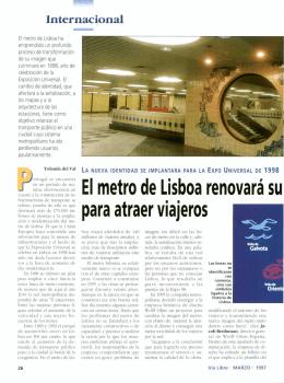 El metro de Lisboa renovará su para atraer viajeros - Vialibre